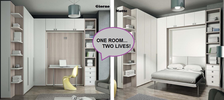 Idee per ottimizzare gli spazi: one room, two lives!