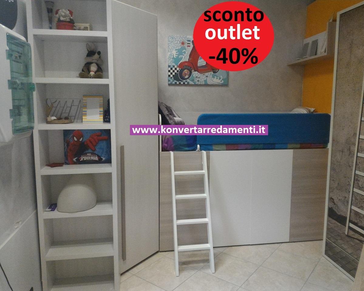 OUTLET Cameretta Dielle in offerta Gruppo Doimo con letto Container ...