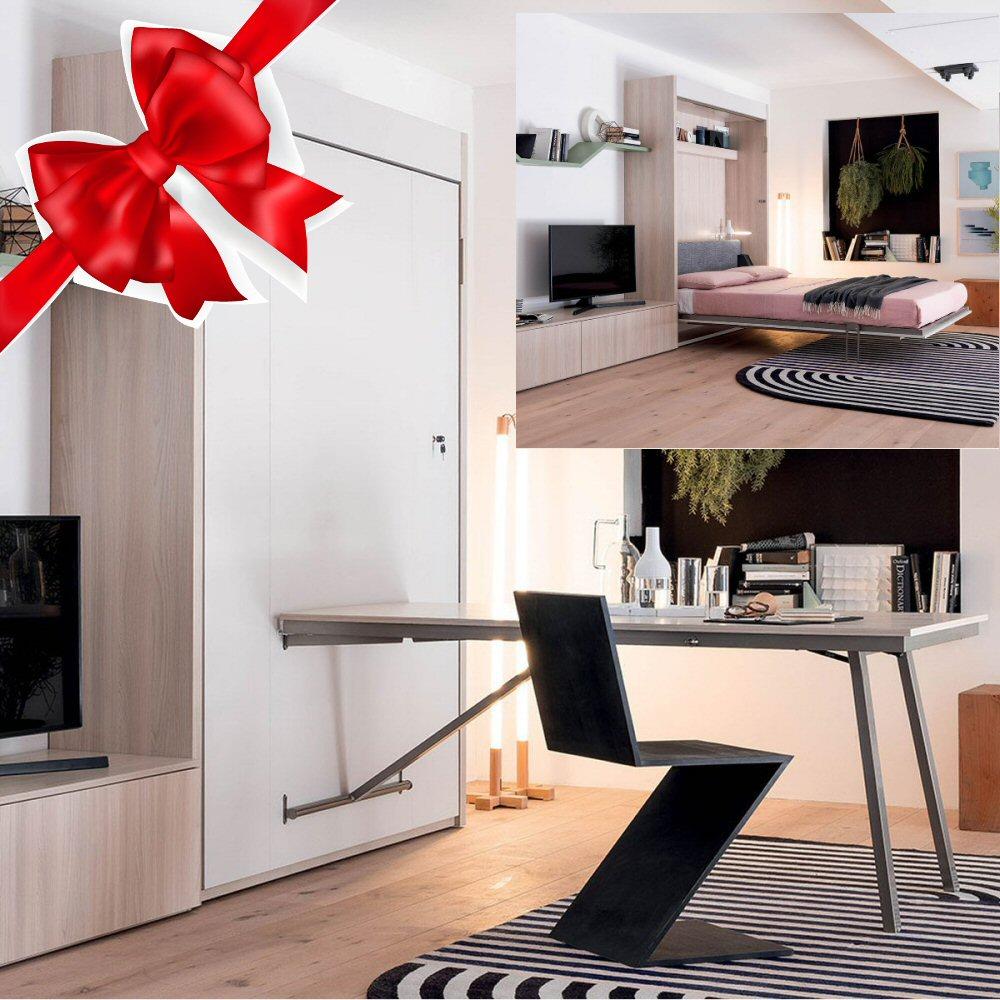 Acquista il tuo letto a scomparsa e la cameretta con omaggio a Torino! Scopri le offerte di Natale 2019 Konvert Arredamenti Trasformabili